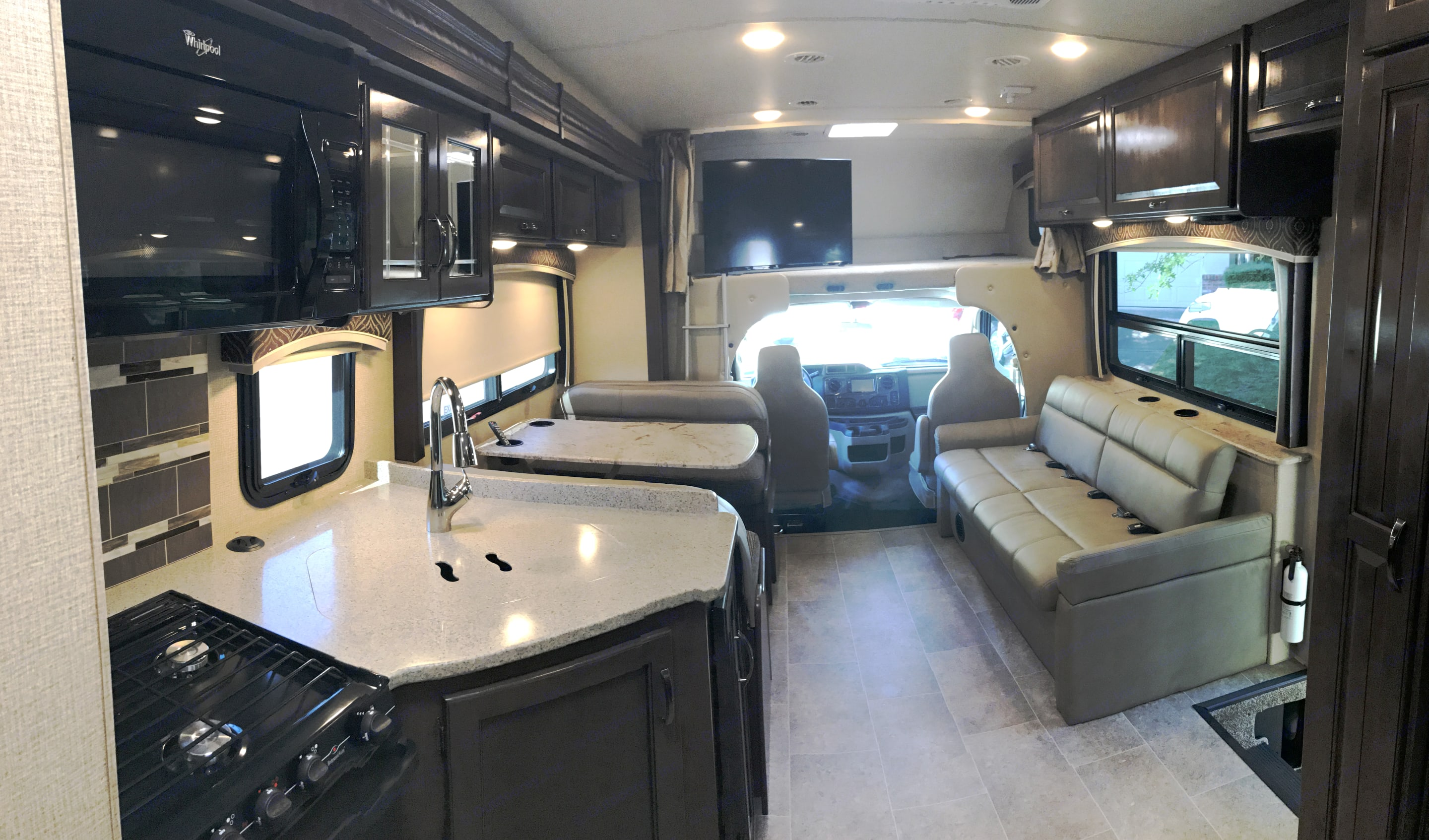 View from Bunk Bed Area. Thor Motor Coach Chateau 2017