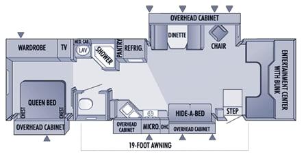 Floor plan. Jayco Seneca 2005