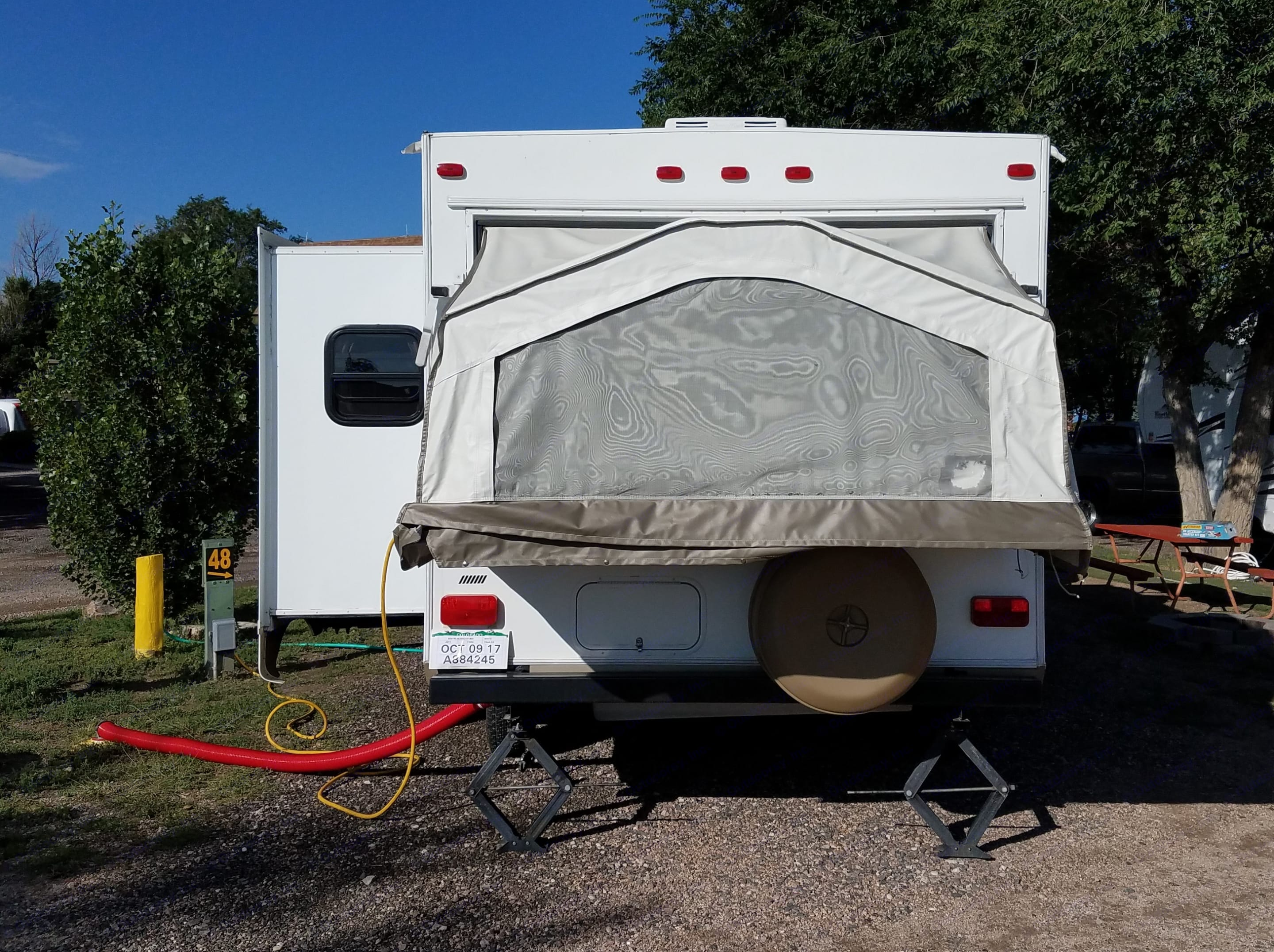 One slide out and two pop out queen sized beds make this trailer ideal for enjoying your outdoor adventure!. Forest River Rockwood Roo 2011