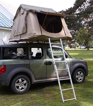 Entrance side of ToyBox Camper. Honda Element 2005