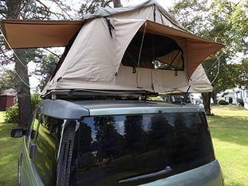 Back of ToyBox Camper. Honda Element 2005