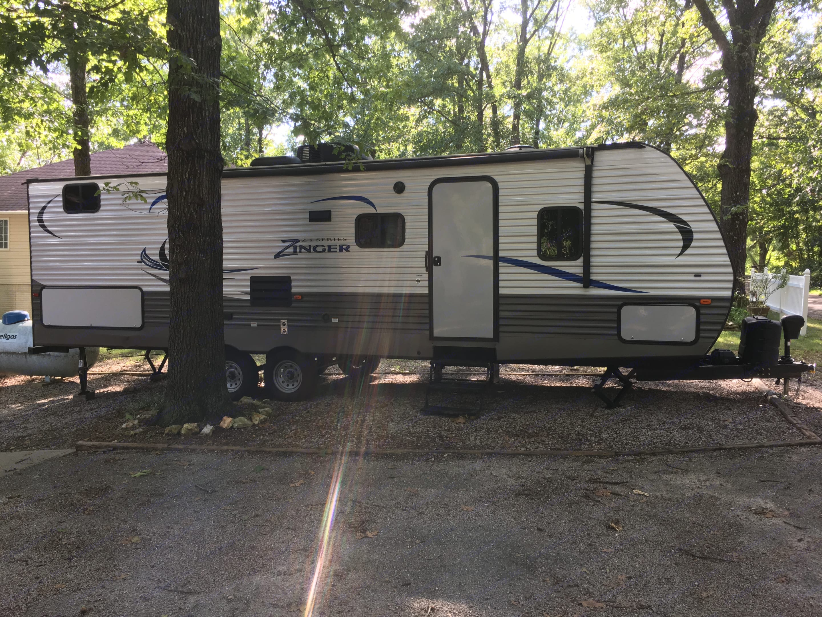 Here she is, looking pretty sweet in her landing pad at our lake house in Kimberling City MO. Crossroads Z-1 2017