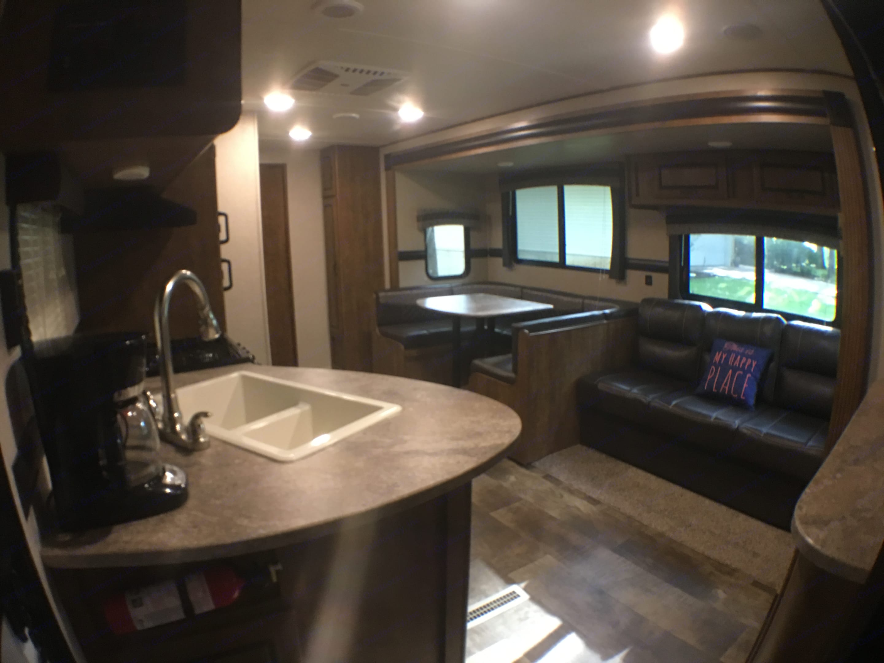 Wide angle from the front door.  Coffee pot included!. Crossroads Z-1 2017