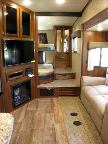 Bunk beds and couch. Jayco Eagle 2017