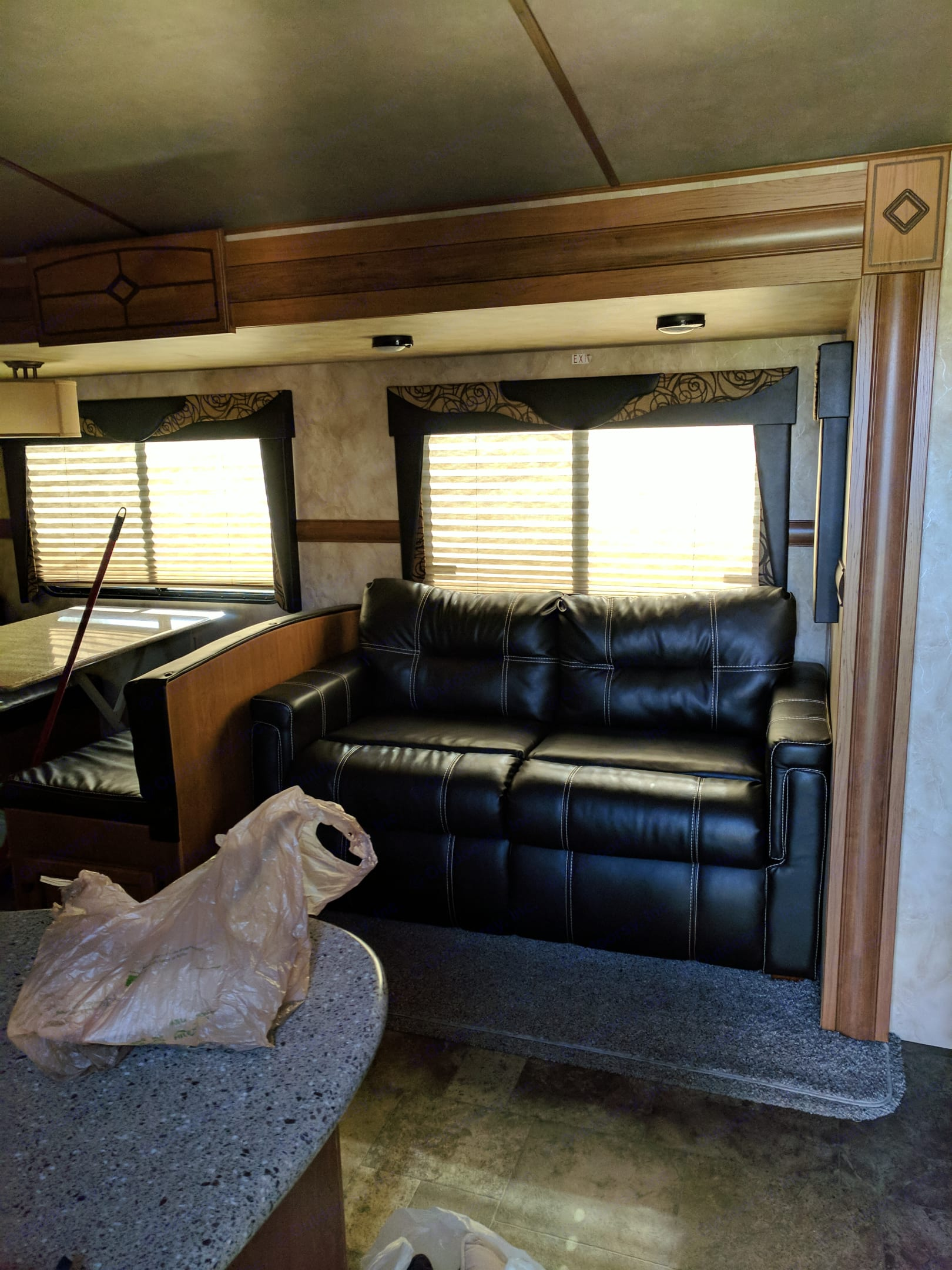 Family room couch/pull out bed . Crossroads Sunset Trail Reserve 2015