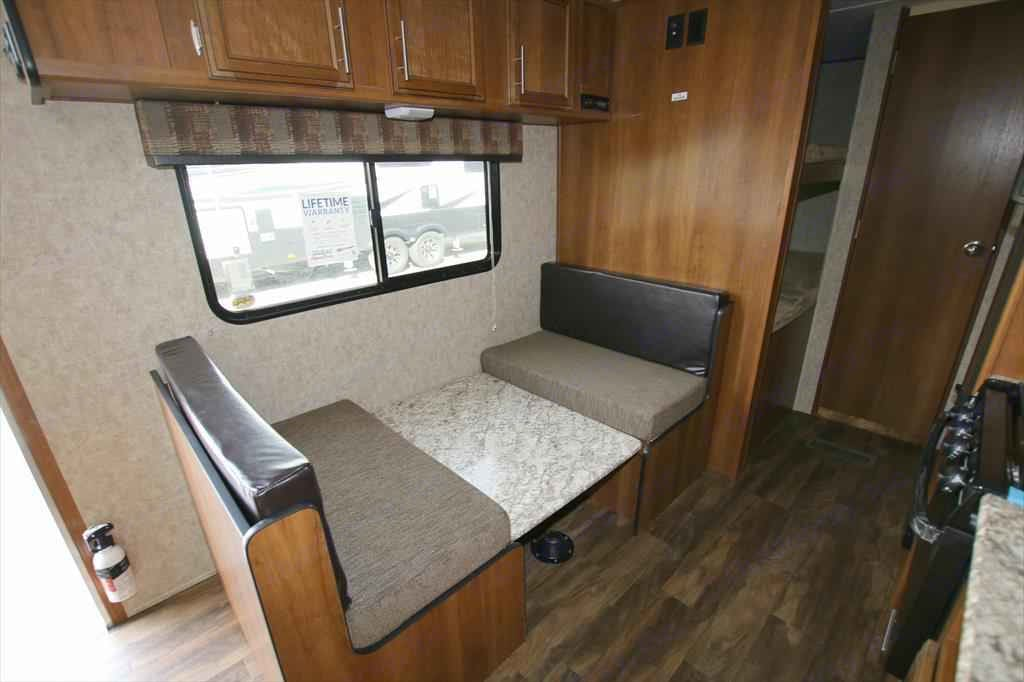 Table dropped down and also shows double bunks behind the wall. Interior radio that plays inside and out. . Prime Time Avenger 2018