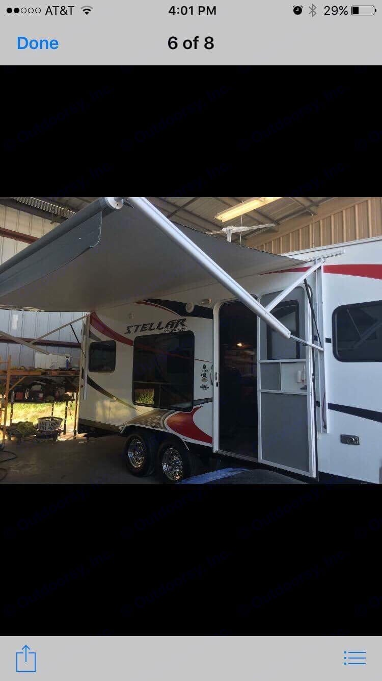 Push button awning - very easy to use. Eclipse Recreational Vehicles Stellar 2014