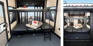 Two Queen beds that can be replaced with additional dining area. . Jayco Seismic 2016