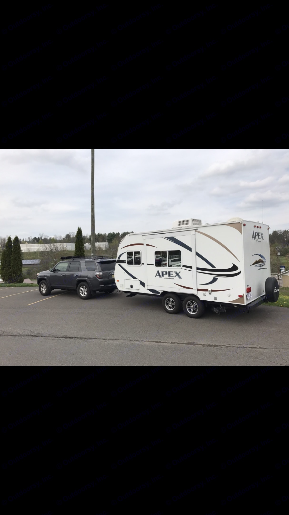 Photo of my Toyota 4-Runner rowing this trailer.. Coachmen Apex 2012