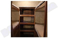 Quad bunk beds with clothes storage. Forest River Tracer 2016