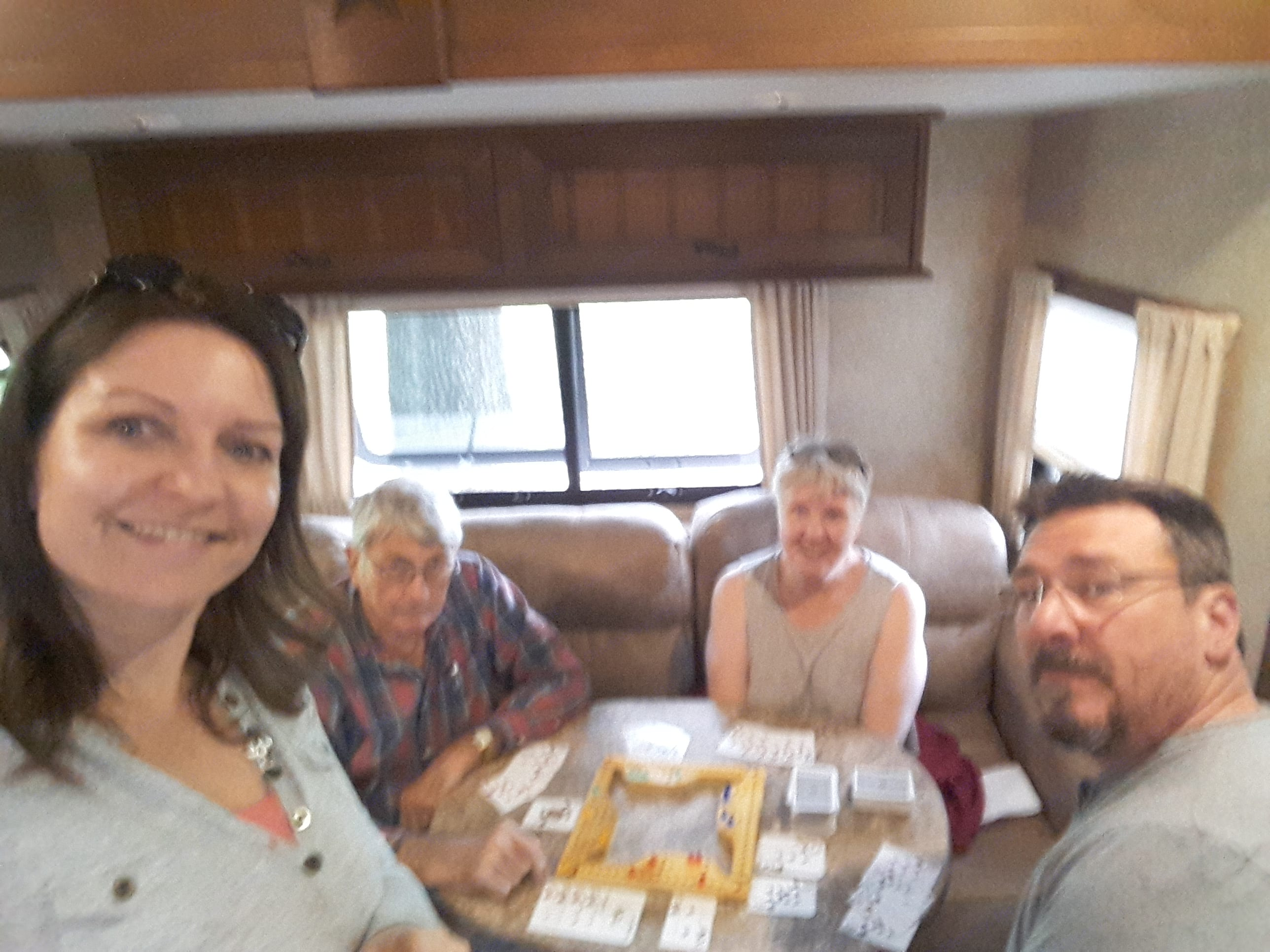 This is us with our parents in the RV.. Open Range Light 2015