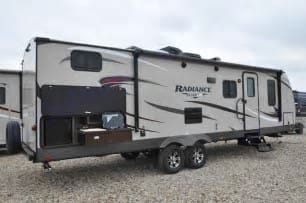 Outside view with kitchen. Cruiser Rv Corp Radiance 2018