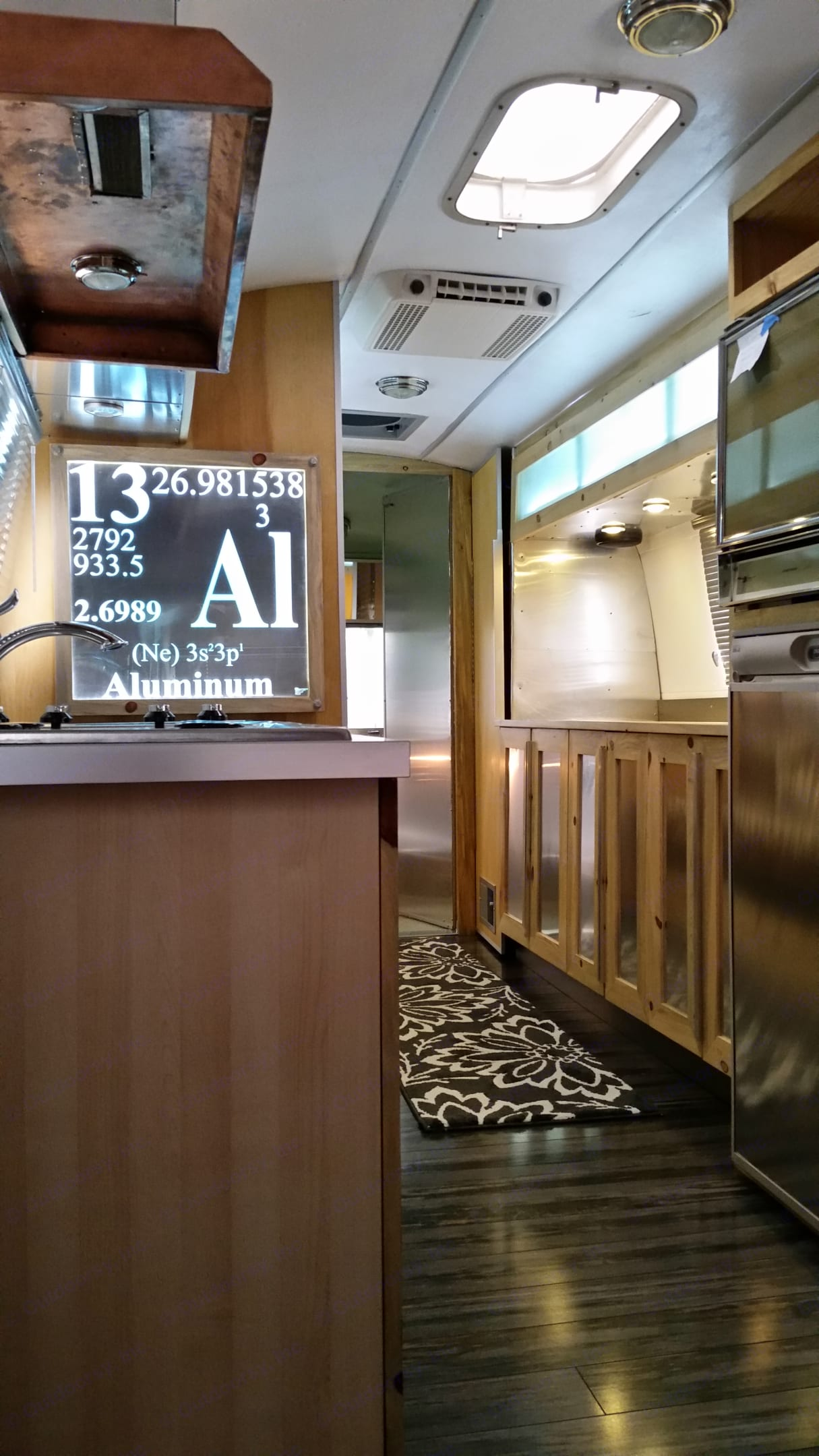 Interior is brand new and features Colorado beetle-kill pine, aluminum skins and great lighting.. Airstream Land Yacht 1970