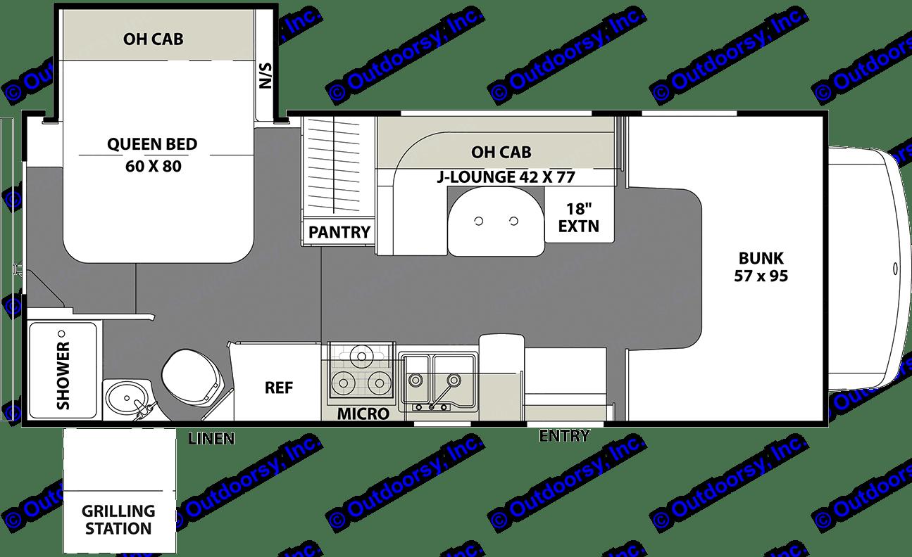 Floorplan. Coachmen 21RS 2019