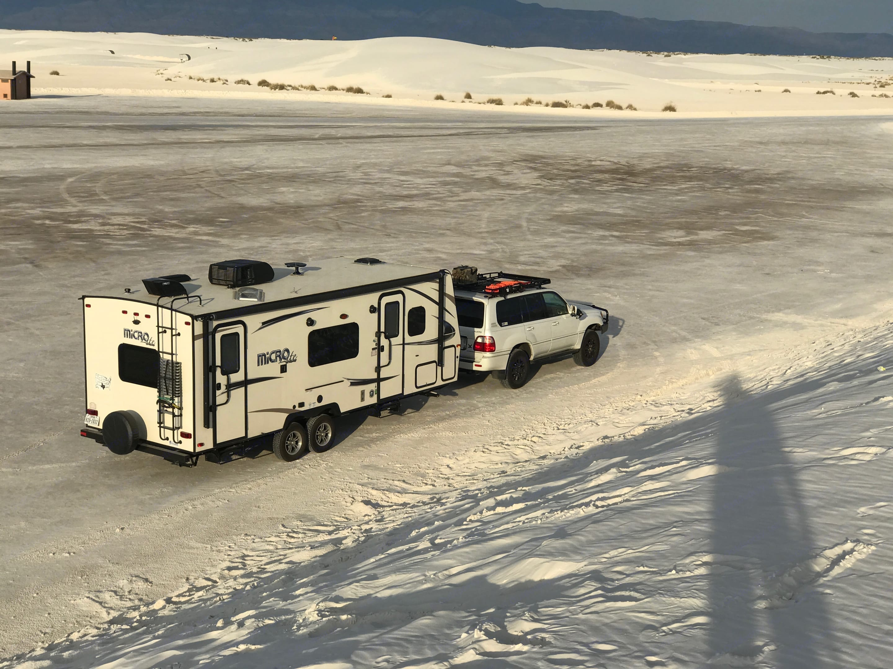 In our trip to White Sands, New Mexico.... Forest River Micro-Lite 2017