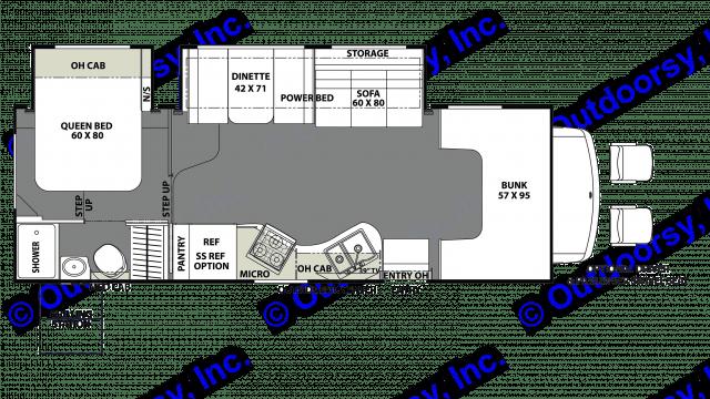 floorplan. Coachmen Freelander 2019