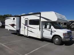 Bunkhouse is on the Driver's side of the RV.. Coachmen Freelander 2011