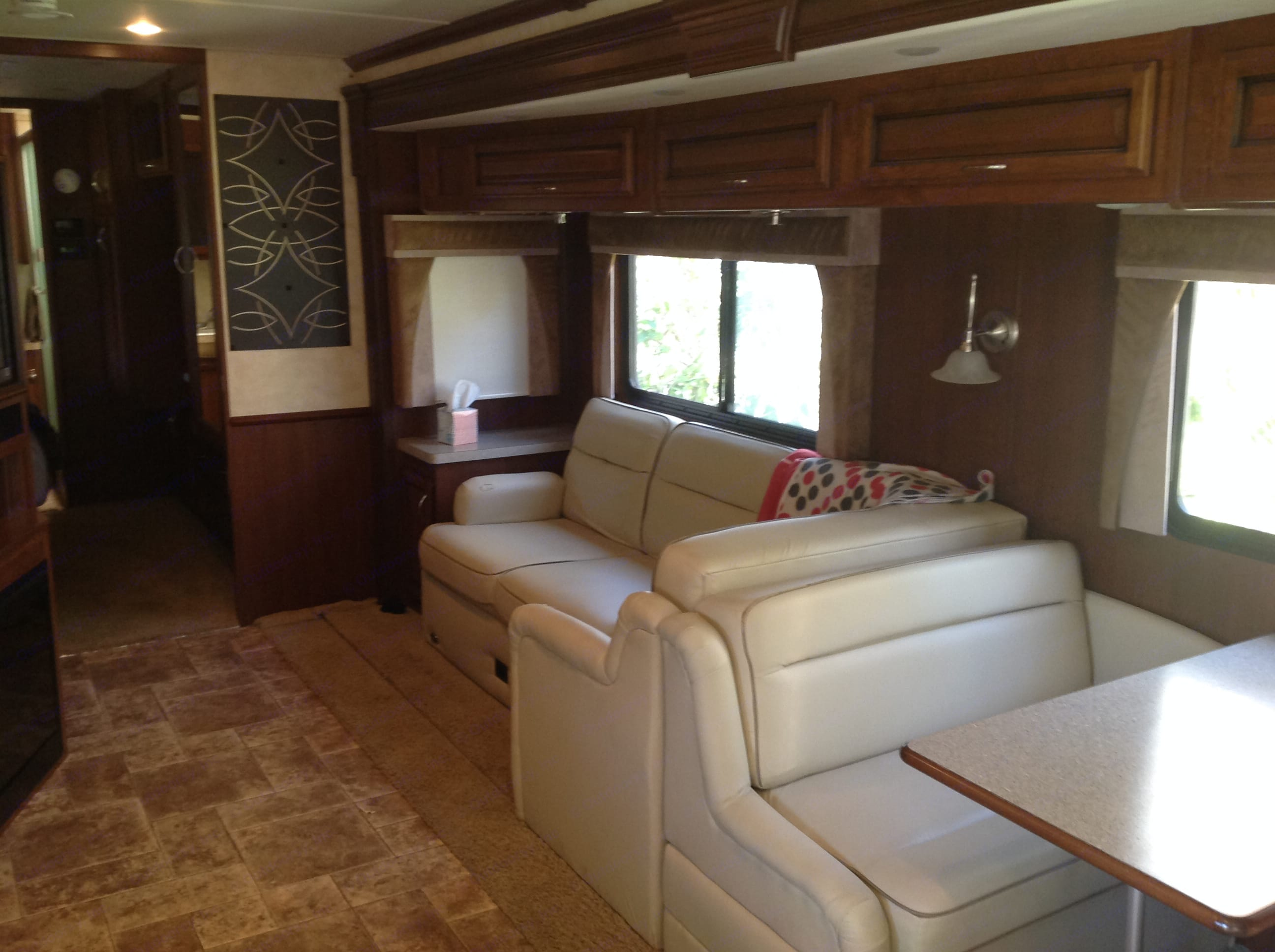 Spacious living area. Fleetwood Bounder 2012