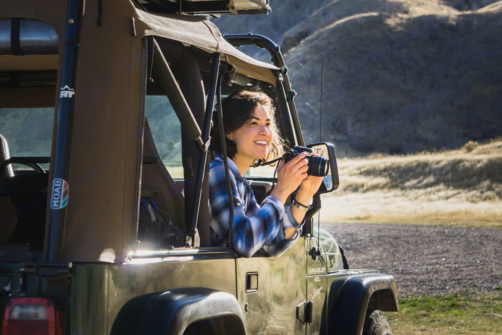 Take the side windows off an immersive experience and those surprise wildlife photo shoots . Jeep Teipu 1999