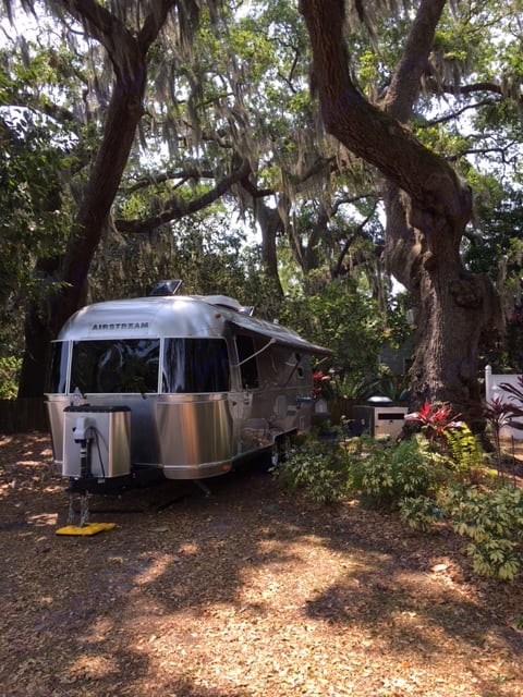 One of the great things about a 23' Airstream is that it will fit most campsites. This was a beautiful setting that accommodated a family of 2 adults and 2 children.. Airstream International 2016