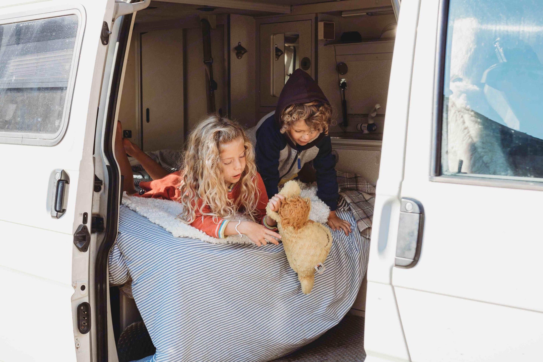 Kids can cuddle up in the bottom bed!. Volkswagen Eurovan Camper 2002