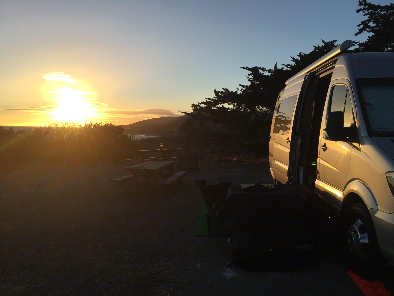El Capitan State Park at Sunset.. Winnebago Era  2016
