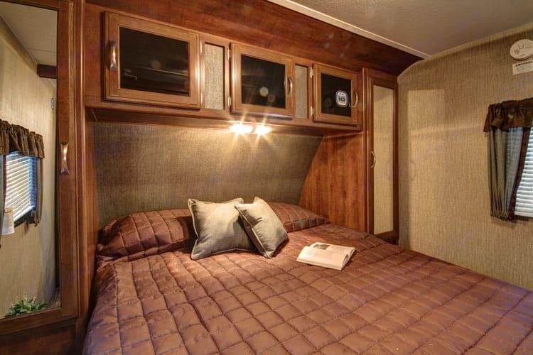 Master Bed with closet storage. Keystone Passport 2016