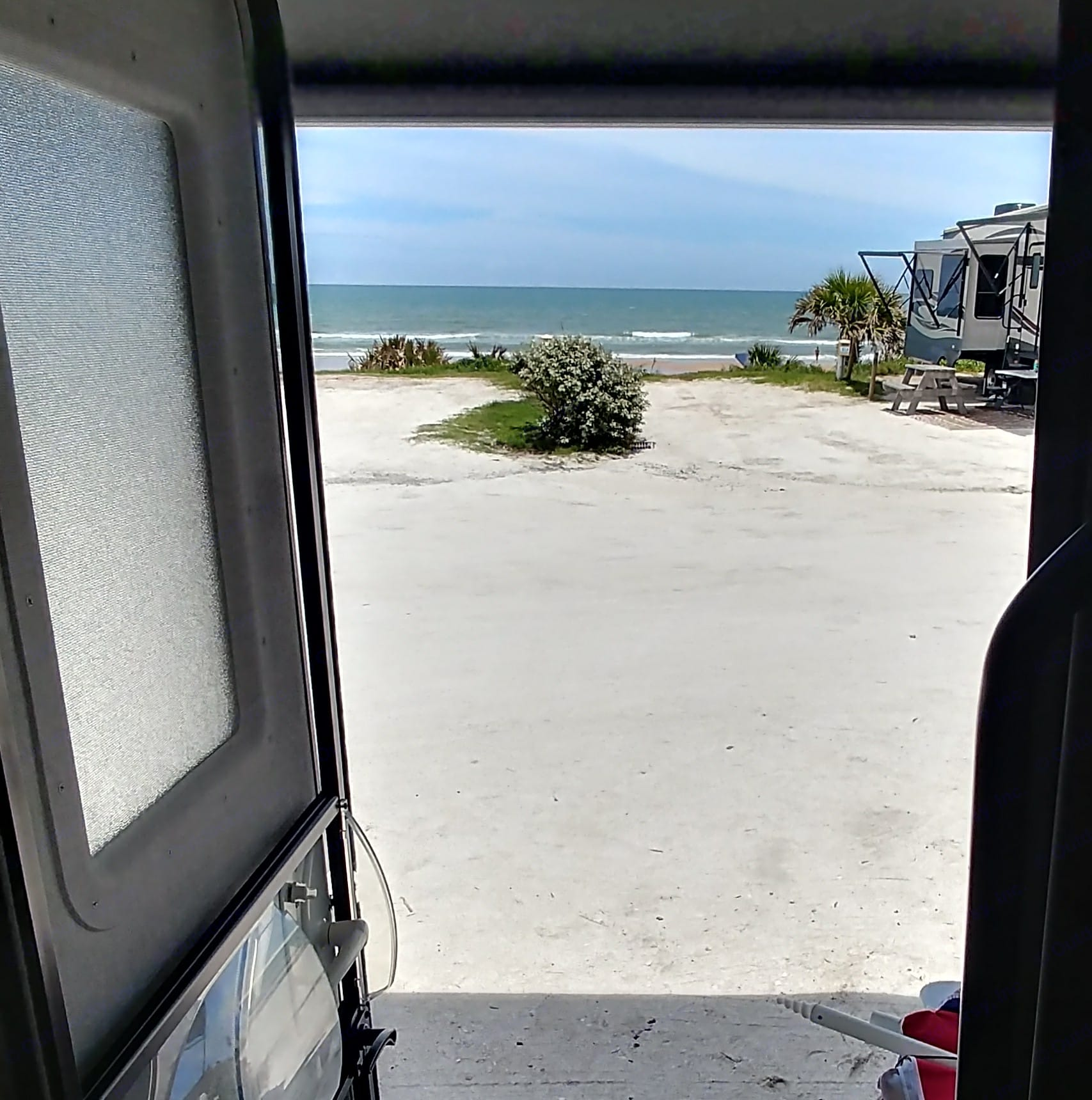 This was our view in Ormand Beach for 3 nights this Summer. Awesome. Thor Motor Coach Chateau 2017