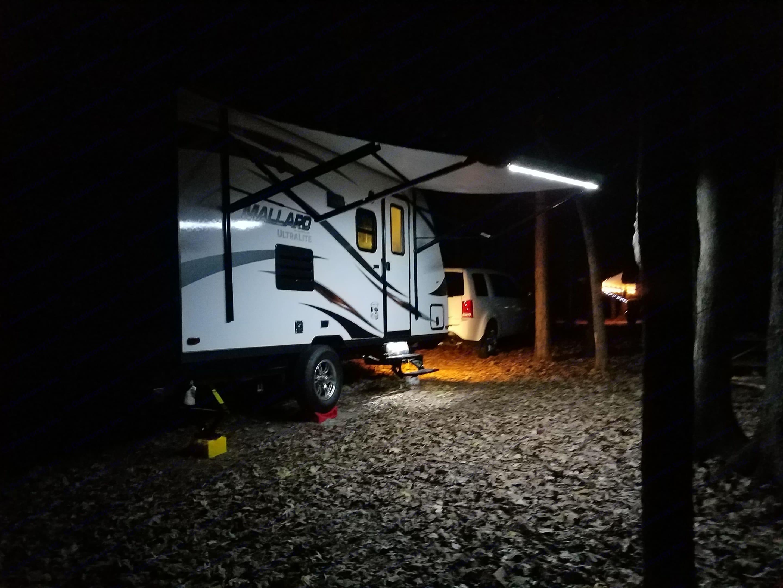 Setup at night. Heartland M185 2018