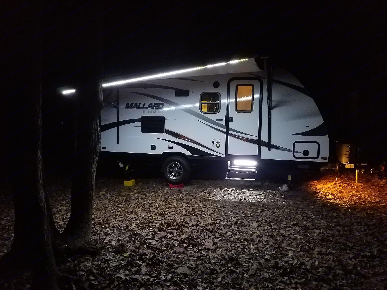 Setup at night with lights on.. Heartland M185 2018