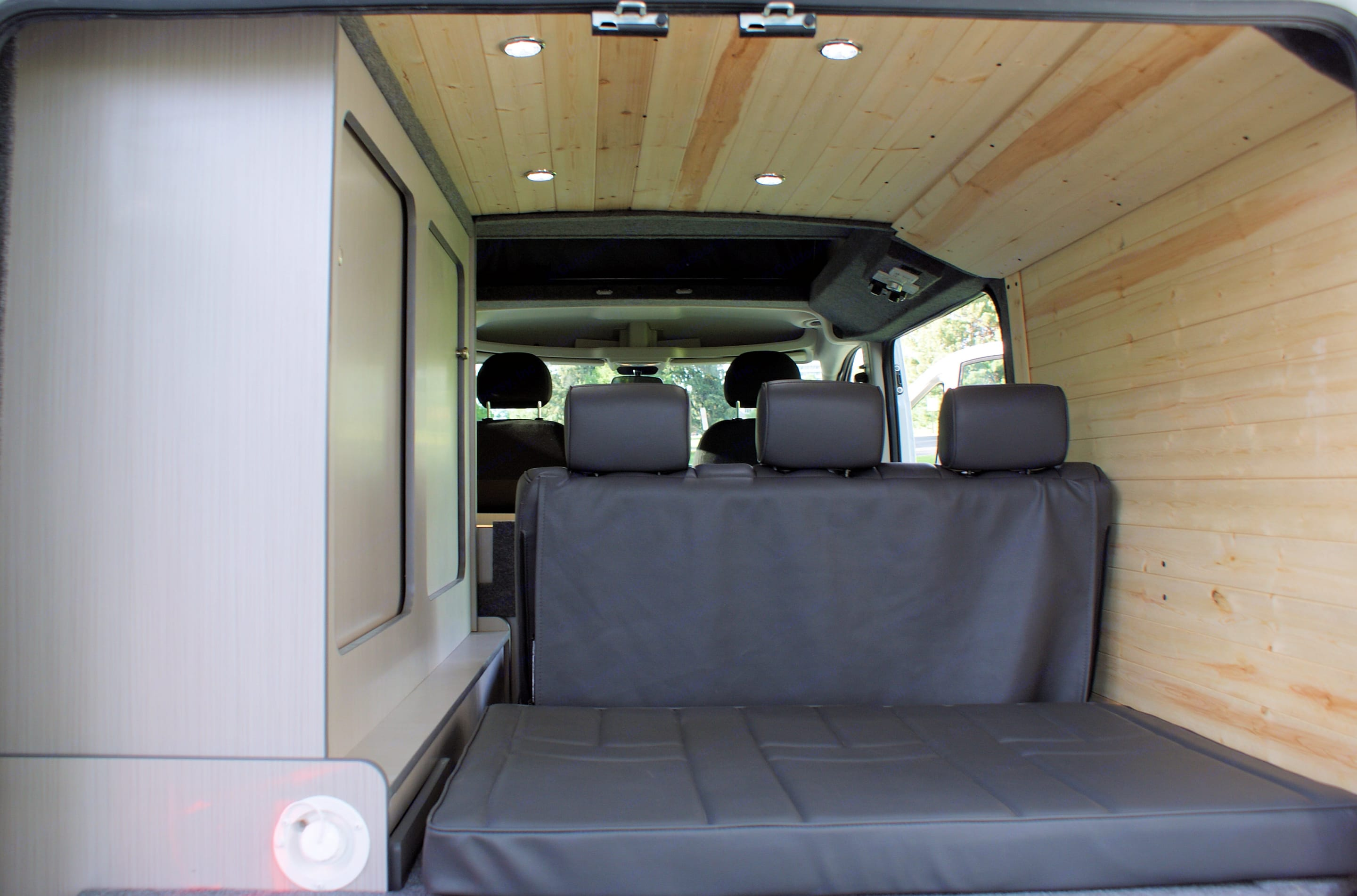 custom woodwork and dimmable LED lights throughout. . Dodge Promaster 2017