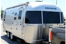 Lovely silver bullet exterior. Always an eye catcher on the road.. Airstream International 2014