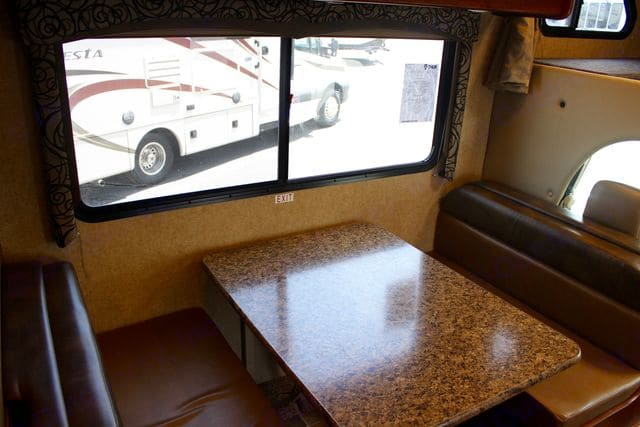 Dining Room Table (Can convert to a bed). Thor Motor Coach Four Winds 2017