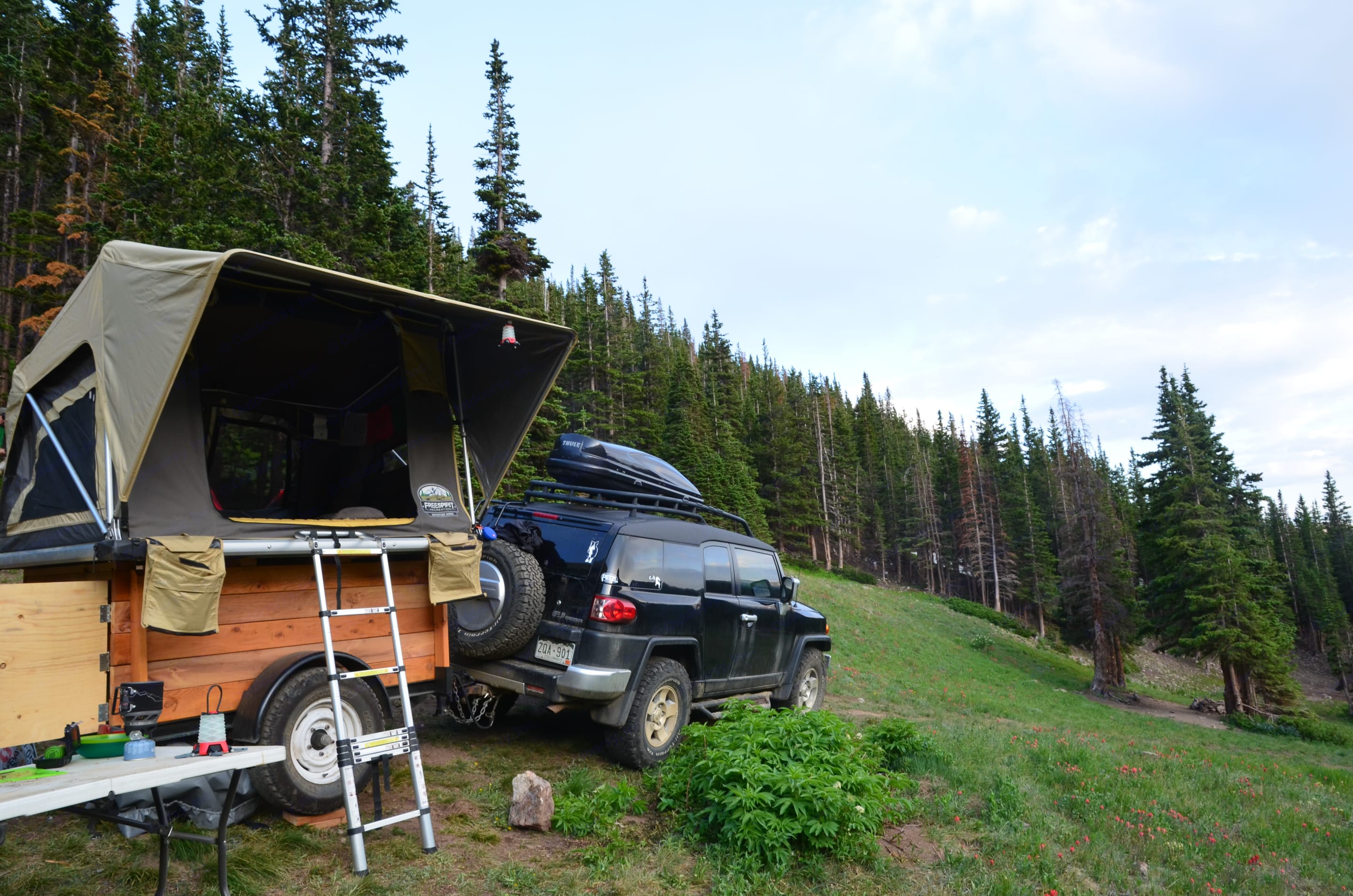The trailer and tent are compact and easy to pull behind most vehicles. . Custom Other 2016