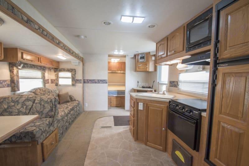 Living area. Forest River Flagstaff Classic Super Lite 2006
