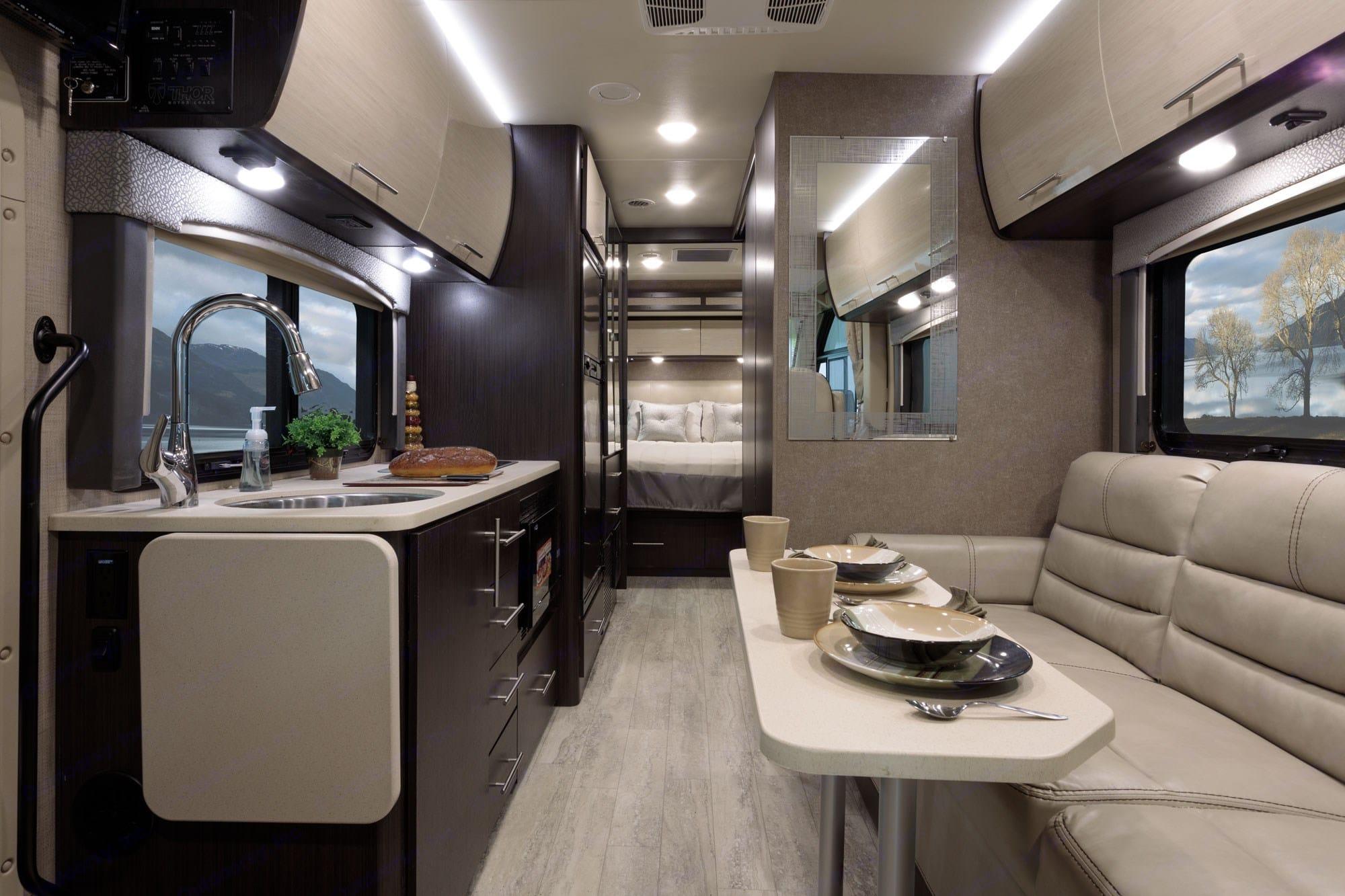 Comfortable / modern / stylish interior.  . Thor Motor Coach Vegas 2018