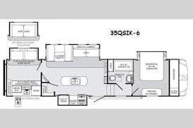 Floor plan. Forest River Sabre 2015