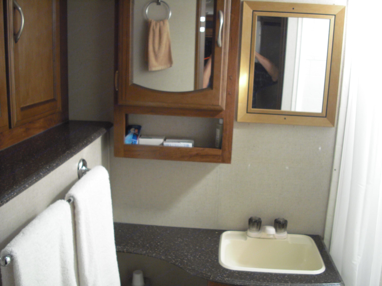 Very roomy bathroom, with closet space.. Coachmen Freedom Express 2016