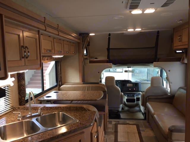 Roomy interior. Thor Motor Coach Four Winds 2016