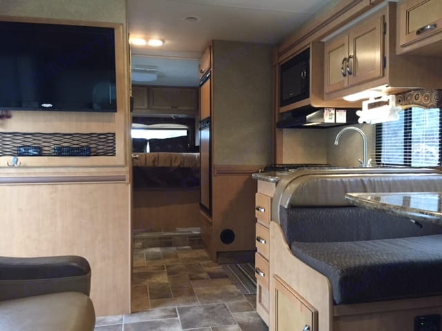 LED TV in living area. Thor Motor Coach Four Winds 2016