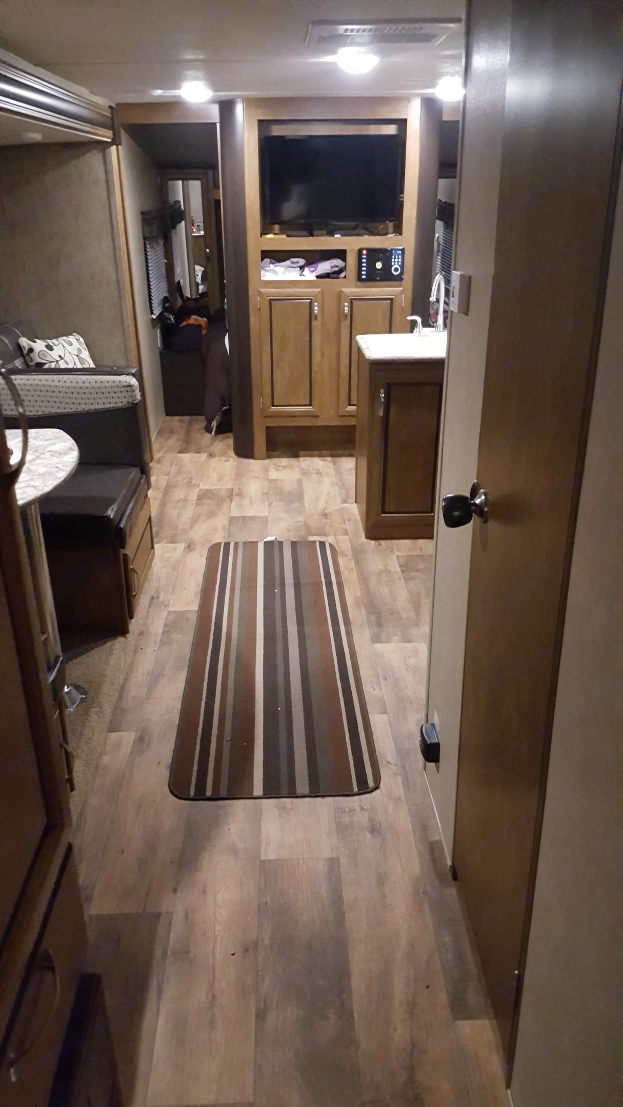 Looking in from back bedroom, living room and kitchen area. . Forest River Salem Cruise Lite 2017