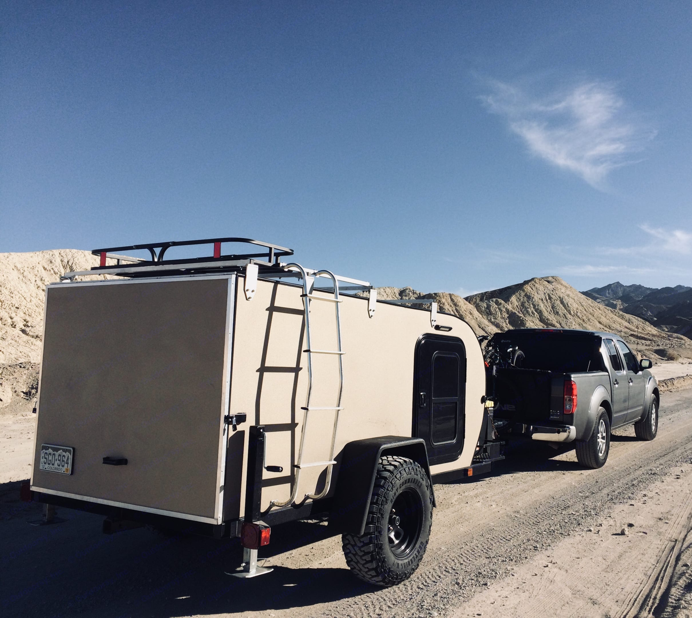 Attached ladder makes it easy to access  roof top storage basket. Oversized tires for easy to moderate back country roads. . Alpine Other 2017