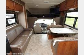 Queen bed (Max. weight 750 pound) over cab. Jayco Redhawk 2016