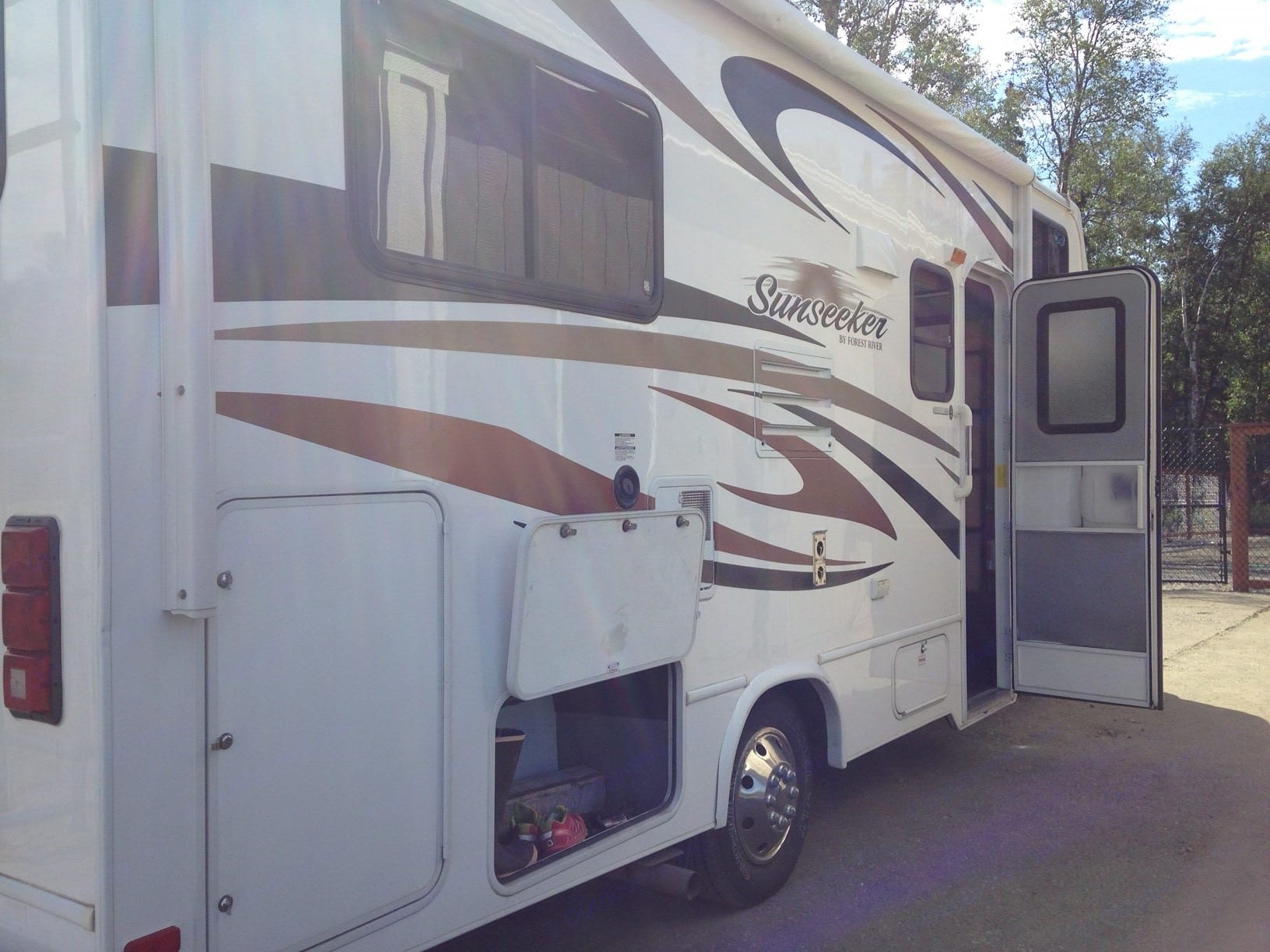 Lots of exterior storage!. Forest River Sunseeker 2012
