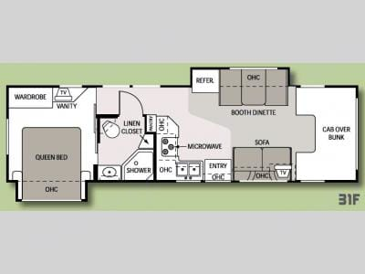 Heres an interior floor plan layout of my RV. Thor Motor Coach Four Winds 2008