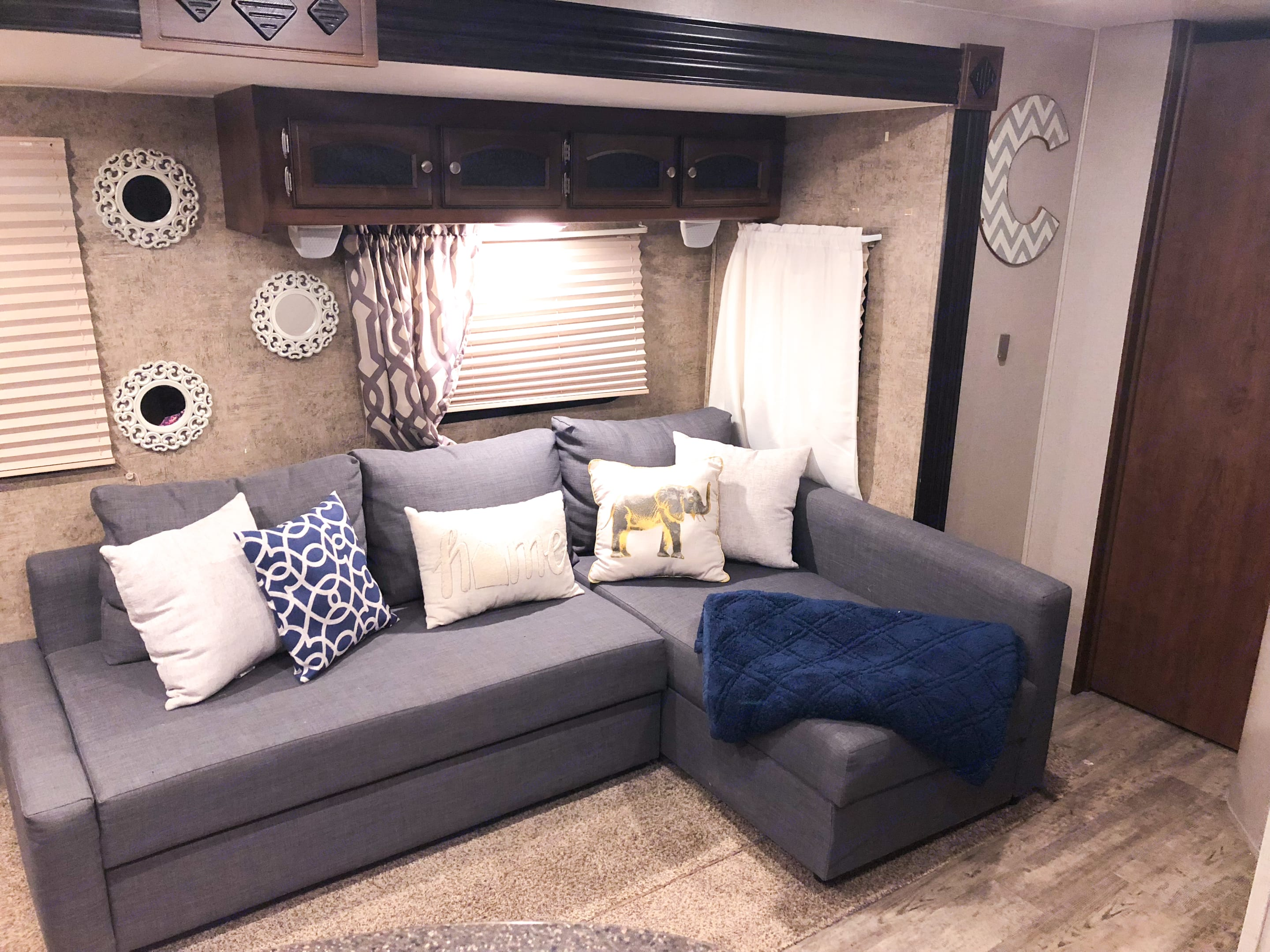 Living Space (Storage underneath chaise). Coachmen Freedom Express 2016