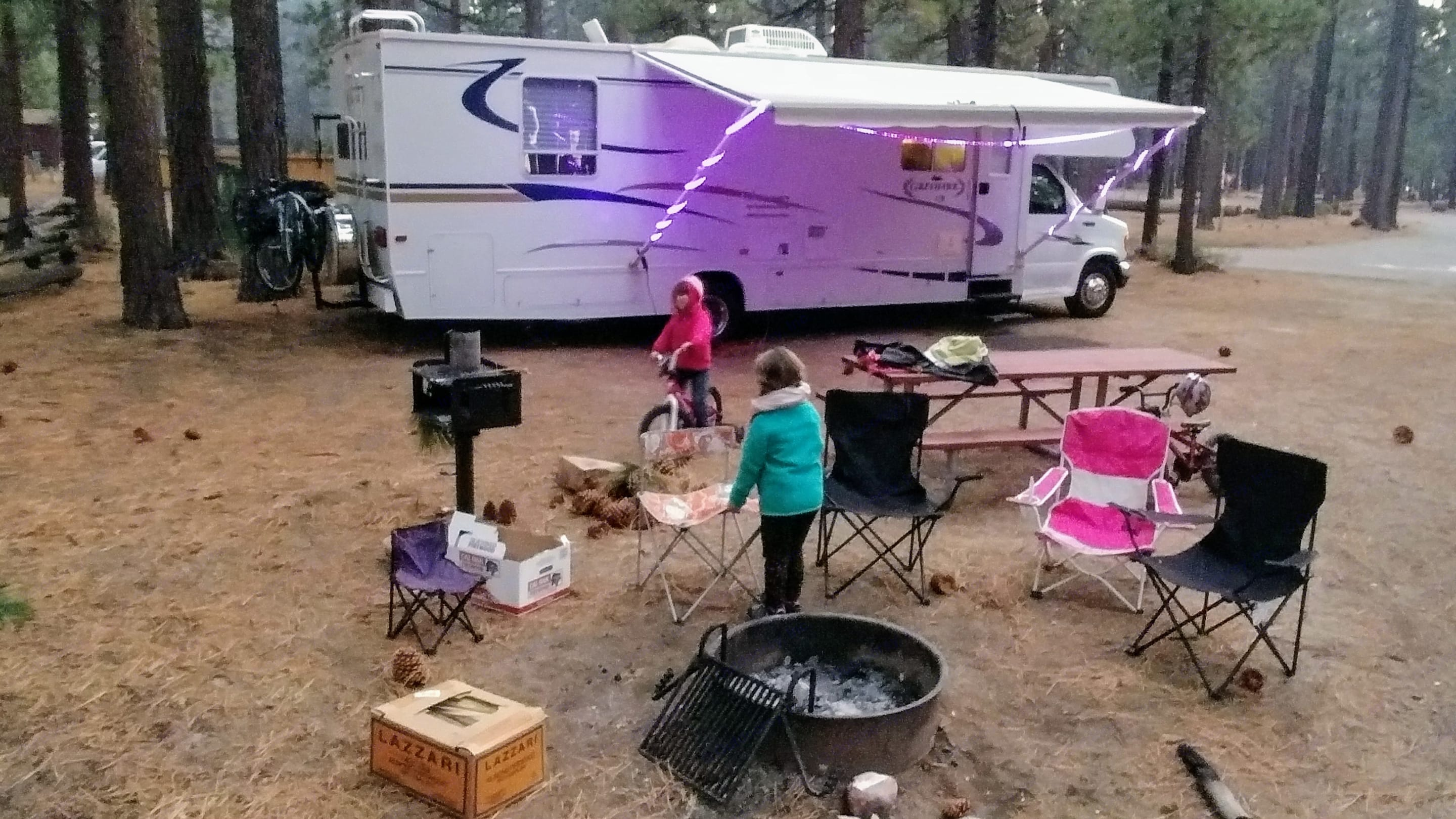 This is our wonderful home away from home taken on a trip with our daughter and her friend at Lake Tahoe. You can even use our multi-color outdoor LED lights!. Jayco Greyhawk 2005