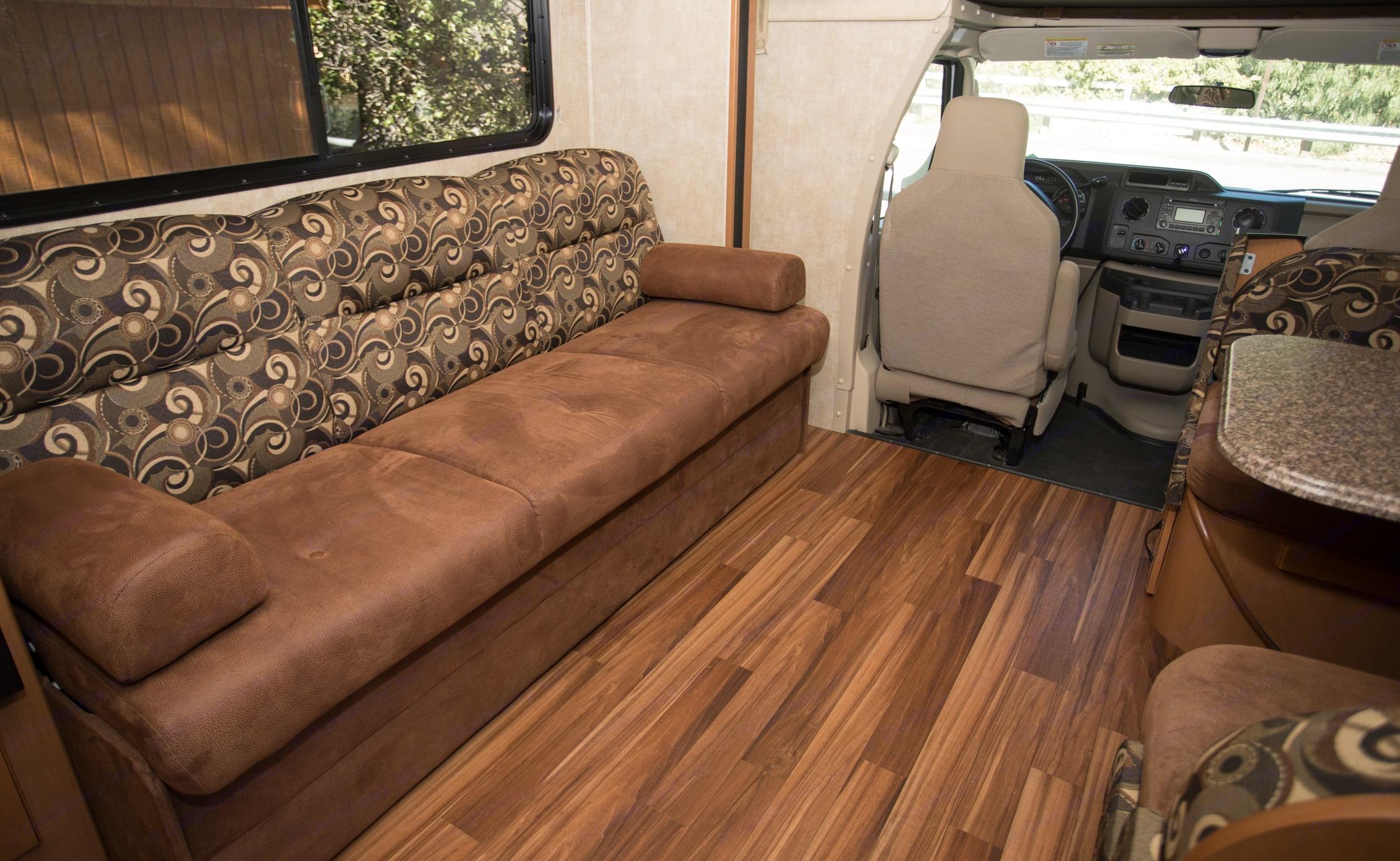 The interior is in mostly pristine condition.. Coachmen Freelander 2013