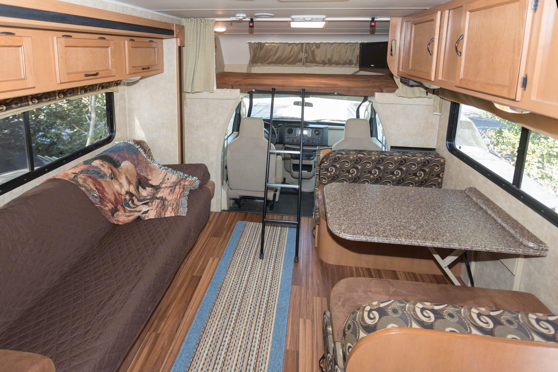 Very spacious when slide is open in living area.. Coachmen Freelander 2013