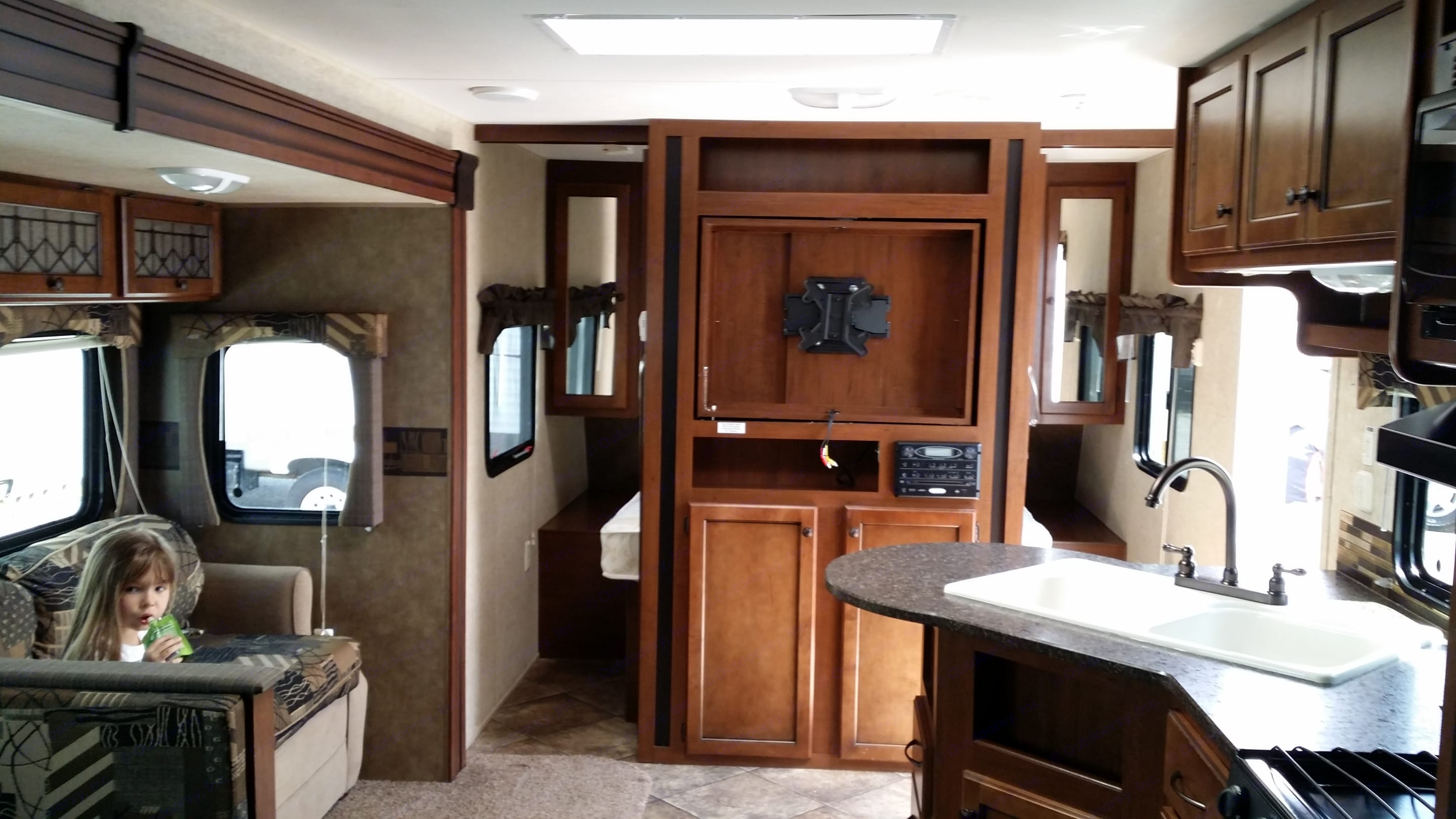 Tv is included with the trailer rental. Kids can bring their Playstation or Xbox in case it rains. . Heartland Prowler 2013